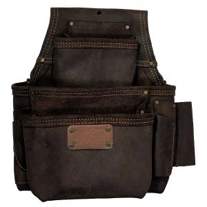 OX Pro Fastener Bag, Oil-Tanned Leather, 3 Pouch