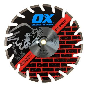 OX Professional Masonry & Brick Blade with 10 mm segments and U gullet