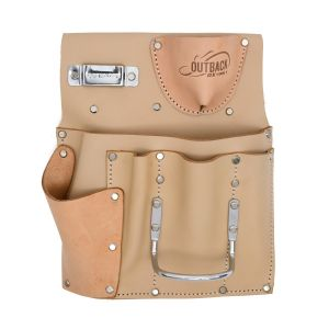 OX Trade Series 7 Pocket Drywall Tool Pouch, Suede Leather
