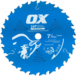 OX Pro Wood Cutting 24 Tooth Coated Saw Blade