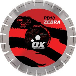 Image for OX Professional PB10 Segmented Diamond Blade - Abrasive