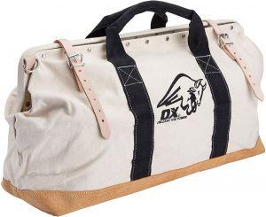 "OX Pro 24"" Canvas Mason Tool Bag Nylon Strap Handle Suede"