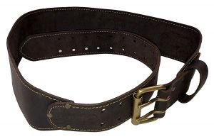 """Pro 3"""" Tool Belt, Oiled Tanned Leather, Size Small/Medium"""