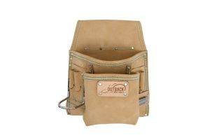 OX Trade 8-Pocket Tool/Fastener Pouch, Suede Leather