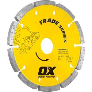 Image for OX Trade TMR Tuck Pointing Diamond Blade
