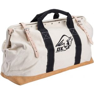 "OX Pro 24"" Canvas Mason Tool Bag Nylon Strap Handle Suede"