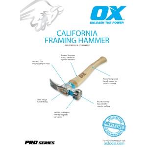 Pro California Framing Hammer Information