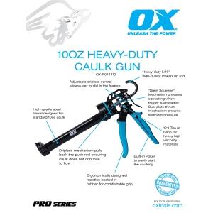 Pro 10oz Heavy-Duty Calk Gun Information
