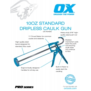 Standard 10oz Calk Gun Information