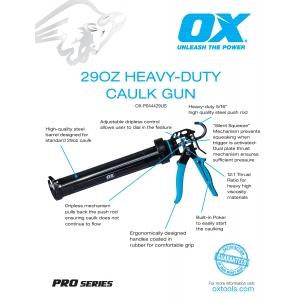 Pro 29oz Heavy-Duty Calk Gun Information