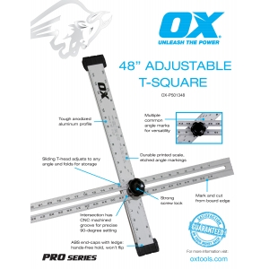 Pro Drywall Adjustable T-Square Information